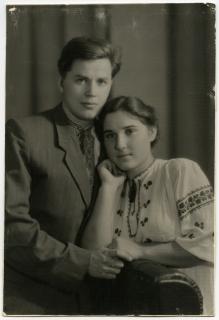 Леопольд Ященко й Лідія Орел. 1958