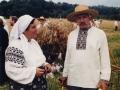 Лідія Орел і Леопольд Ященко на обжинках у МНАПУ. 1997