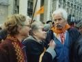 Леопольд Ященко і Надія Світлична на Майдані. Осінь 2004