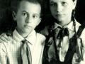 Віктор Захарченко з сестрою Вірою